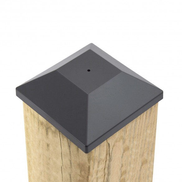 "5 5/8"" Nail In Place Post Cap For 6"" x 6"" Wood Post  LMT 1622 (Installation Shown As Example)"