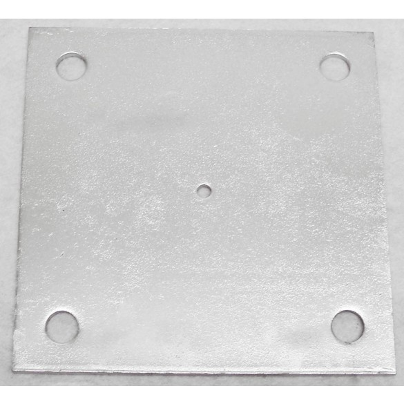"5"" X 5"" X 1/4"" Floor Plate Galvanized Pressed Steel"