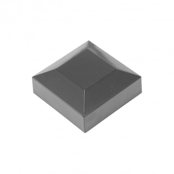 "2"" Sq. Flat Vinyl Post Cap For Aluminum Post (Black) 2x2"