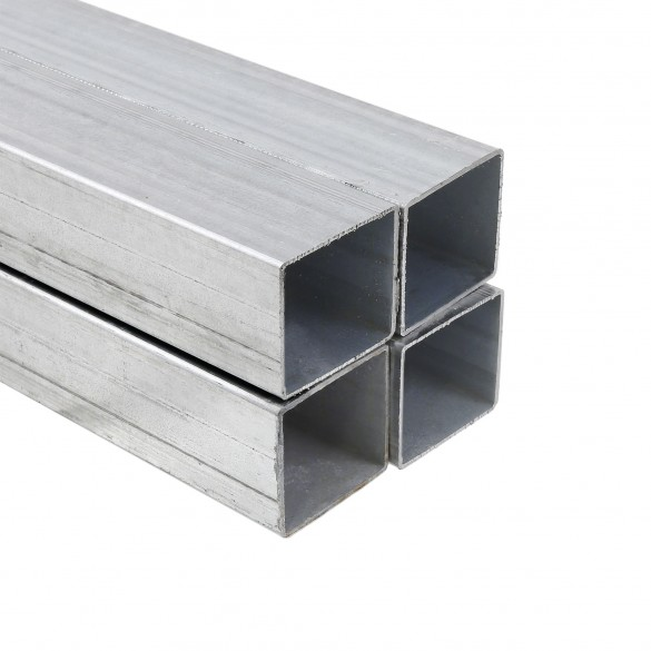 "6' Long x 2 1/2"" Sq. Galvanized Steel Tubing (0.0781"" Wall) - 4 Pack (2"" Sq. Shown As Example)"