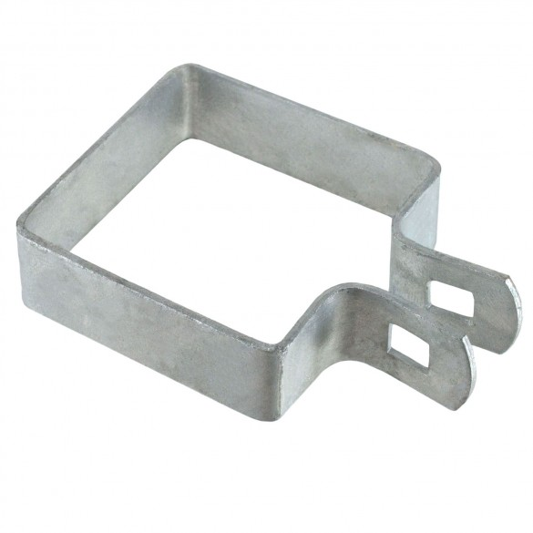 """2 1/2"""" Square Brace Band Chain Link 7/8"""" Galvanized Steel"""