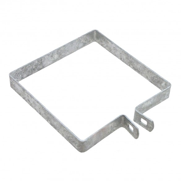 """6"""" Square Brace Band Chain Link 7/8"""" Galvanized Steel"""