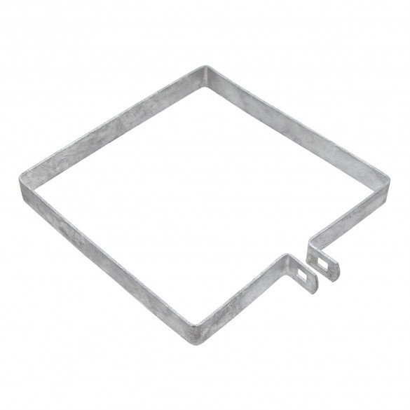 """8"""" Square Brace Band Chain Link 7/8"""" Galvanized Steel"""