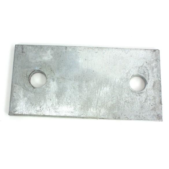 "3"" X 6"" X 1/4"" Floor Plate Galvanized Pressed Steel"