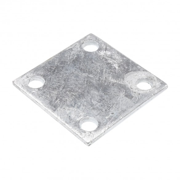 "4"" X 4"" X 1/4"" Floor Plate Galvanized Pressed Steel"
