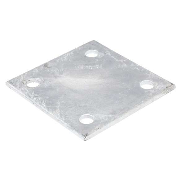 "6"" X 6"" X 1/4"" Floor Plate Galvanized Pressed Steel"