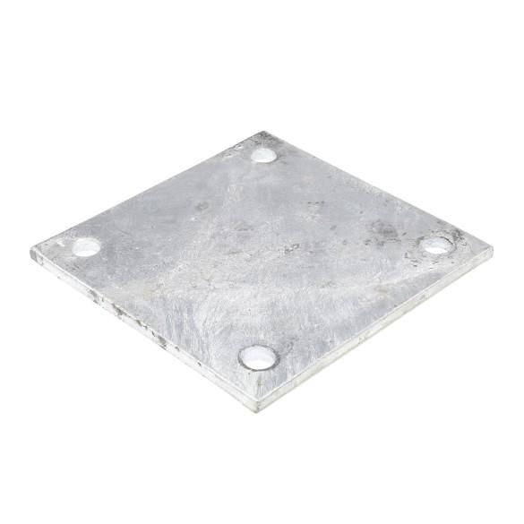 "8"" X 8"" X 1/4"" Floor Plate Galvanized Pressed Steel"