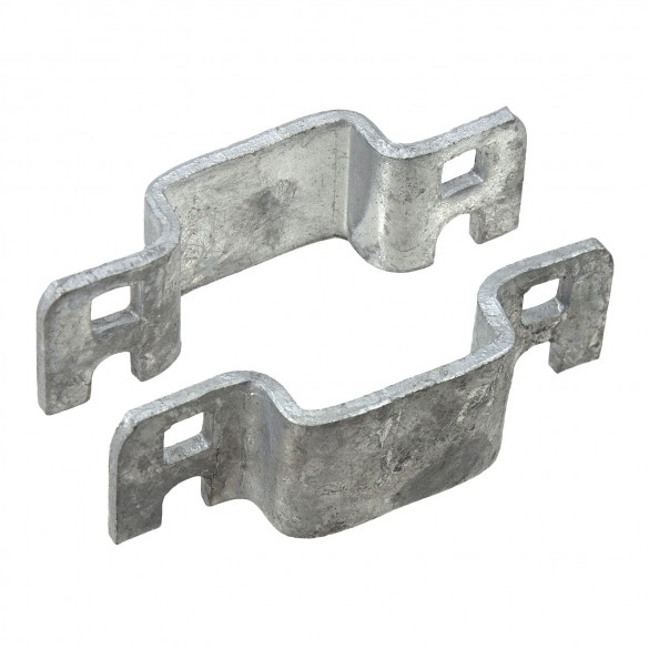 "1 1/2"" Square Pressed Steel Fence Collar"