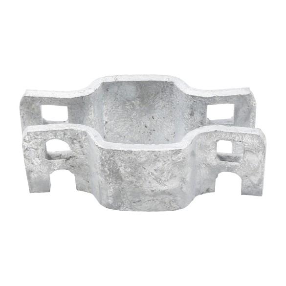 "1"" Square Pressed Steel Fence Collar"