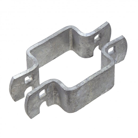 "2"" Square Pressed Steel Fence Collar"