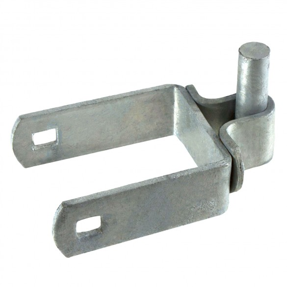 "2 1/2"" X 5/8"" Square Post Hinge Chain Link Galvanized Steel"
