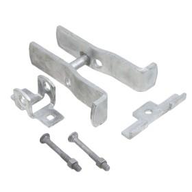 """Square Post Fulcrum Gate Latch - Fits 2"""" Square Gate Frame x 2 1/2"""" Square Gate Post - SFL-225"""