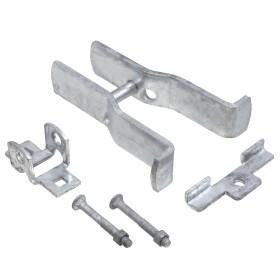 """Square Post Fulcrum Gate Latch - Fits 2"""" Square Gate Frame x 3"""" Square Gate Post - SFL-23"""