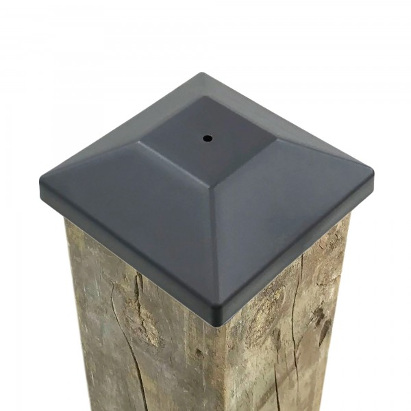 """3 5/8"""" Nail In Place Post Cap For 4"""" x 4"""" Wood Post LMT 1621 (Installation Shown As Example)"""