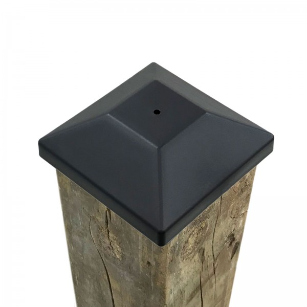 "3 5/8"" Nail In Place Post Cap For 4"" x 4"" Wood Post LMT 1621 (Installation Shown As Example)"