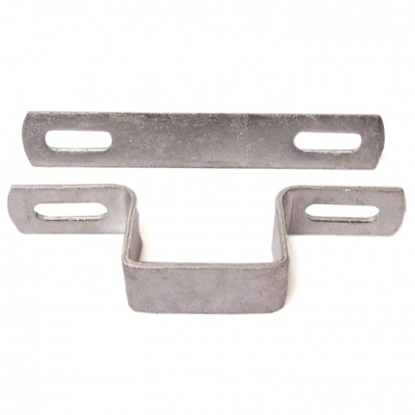 """2"""" Square Welded Wire Clamp Chain Link Galvanized Steel"""