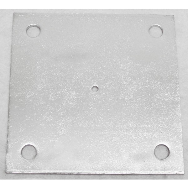 "5"" X 5"" X 1/4"" Floor Plate Galvanized Pressed Steel"