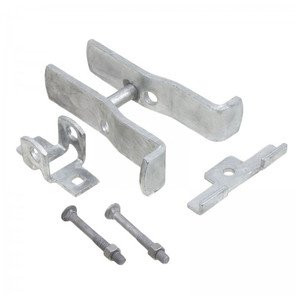 "Square Post Fulcrum Gate Latch - Fits 2"" Square Gate Frame x 2 1/2"" Square Gate Post - SFL-225"
