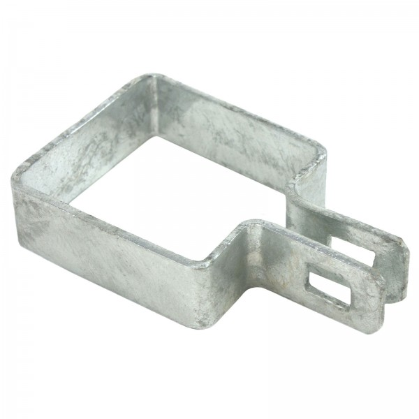 "2"" Square Brace Band Chain Link 7/8"" Galvanized Steel"