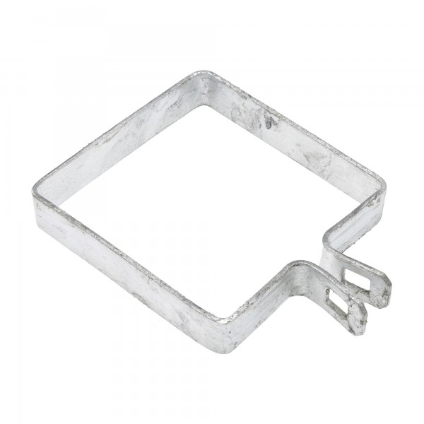 "4"" Square Brace Band Chain Link 7/8"" Galvanized Steel"