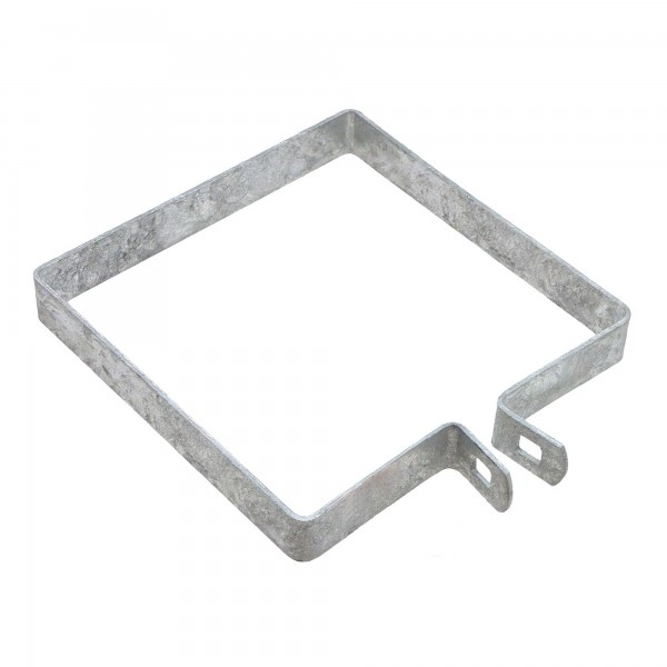 "6"" Square Brace Band Chain Link 7/8"" Galvanized Steel"