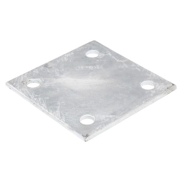 "6"" X 6"" X 1/4"" Floor Plate Galvanized Pressed Steel"
