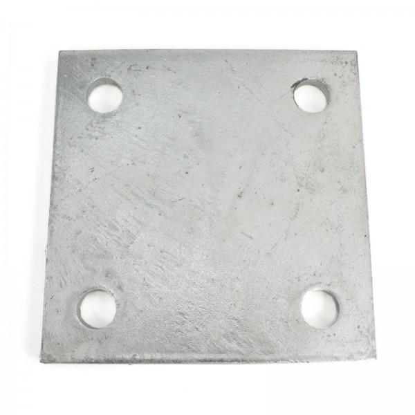 "6"" X 6"" X 3/8"" Floor Plate Galvanized Pressed Steel"