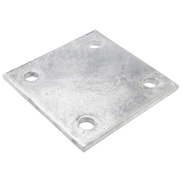 "6"" X 6"" X 3/8"" Floor Plate Galvanized Pressed Steel"