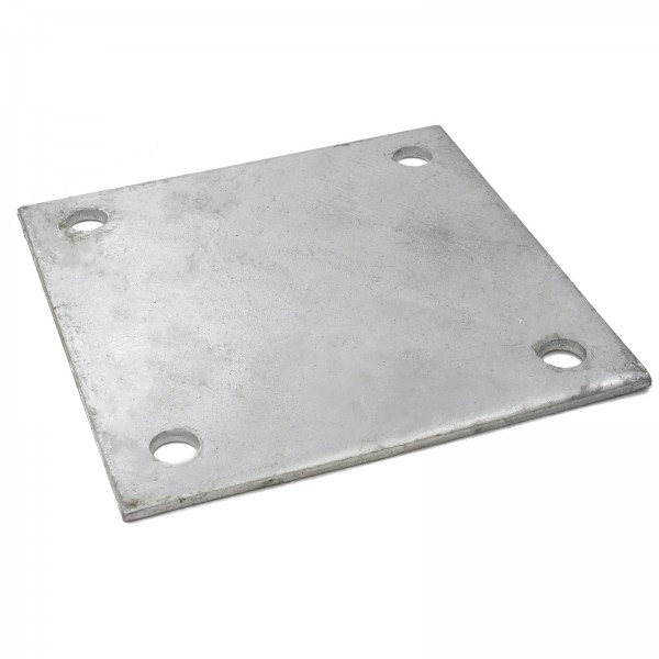 "8"" X 8"" X 1/4"" Floor Plate Galvanized Pressed Steel"