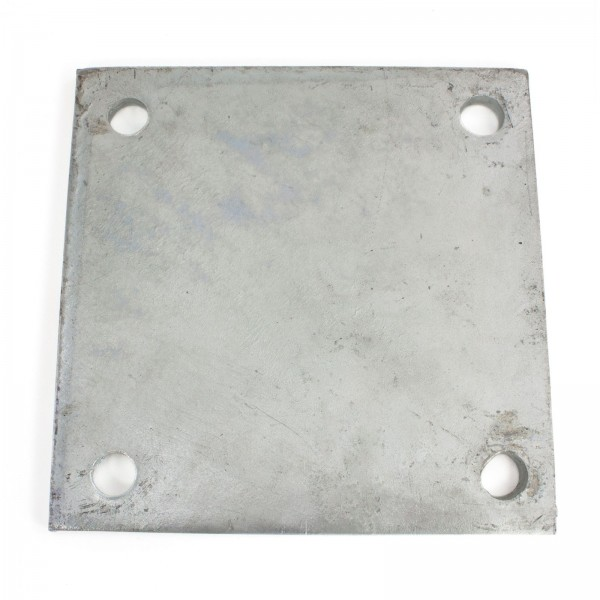 "8"" X 8"" X 3/8"" Floor Plate Galvanized Pressed Steel"
