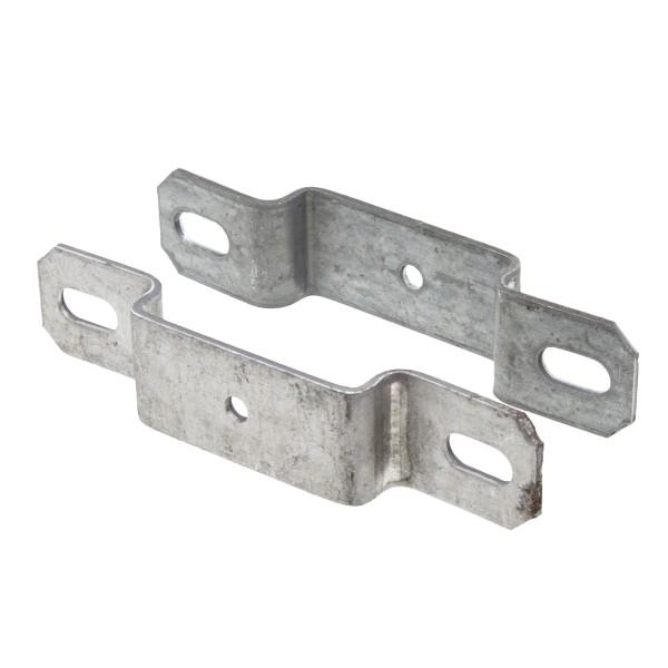 "2 1/2"" Post X 1 1/4"" Rail Square Line Rail Clamp Chain Link Galvanized Steel"