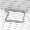 """6"""" Square Tension Band Chain Link 7/8"""" Galvanized Steel (Grid Shown For Scale)"""