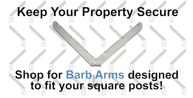 Barb Arms for Chainlink Fence